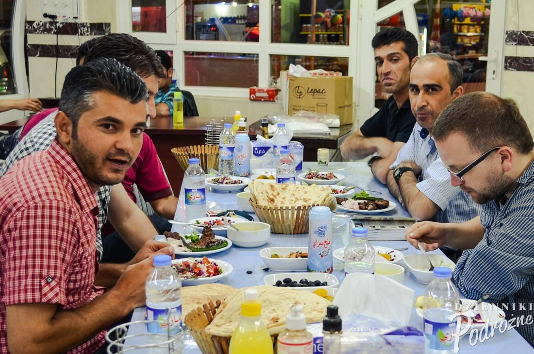 kolacja u przyjaciół w Kurdystanie (Amadiya)