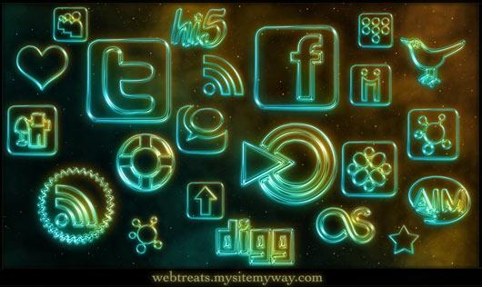 108-Glowing-Neon-Social-Media
