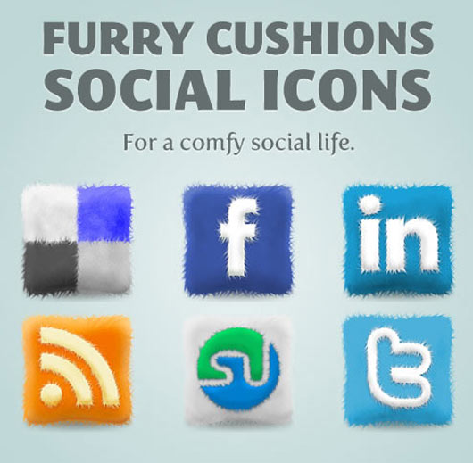 Free-Furry-Cushions-Social-Icons-Set
