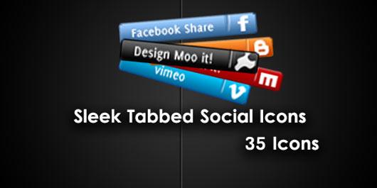Sleek-Social-Network-tab-icons