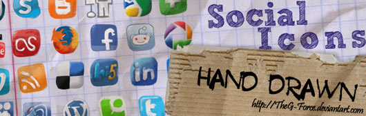 Social-Icons-hand-drawned