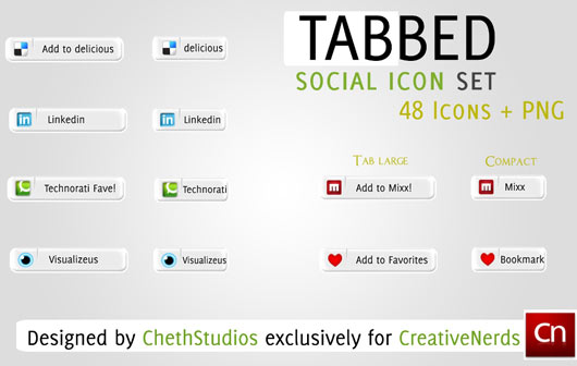 Tabbed-Social-Media-Icon-Set