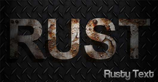 Rusty - Create rusty metal text