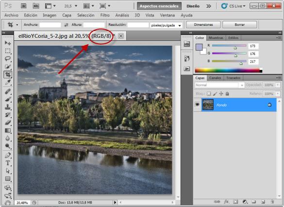Modos de imagen en Photoshop