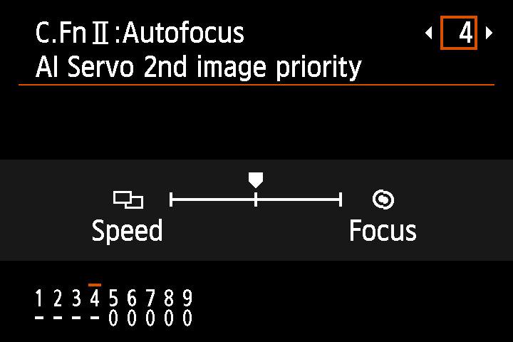 Podemos decirle a la cámara si tiene que dar más prioridad al enfoque o a la velocidad de disparo a partir del segundo disparo en ráfaga.