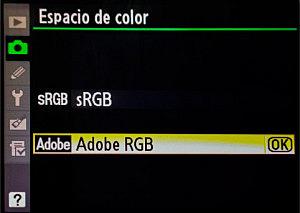 Perfil de color - Configuración de la cámara