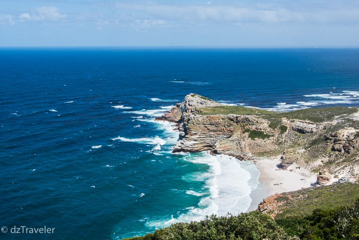 A view of Cape of Good Hope from Cape Point, South Africa