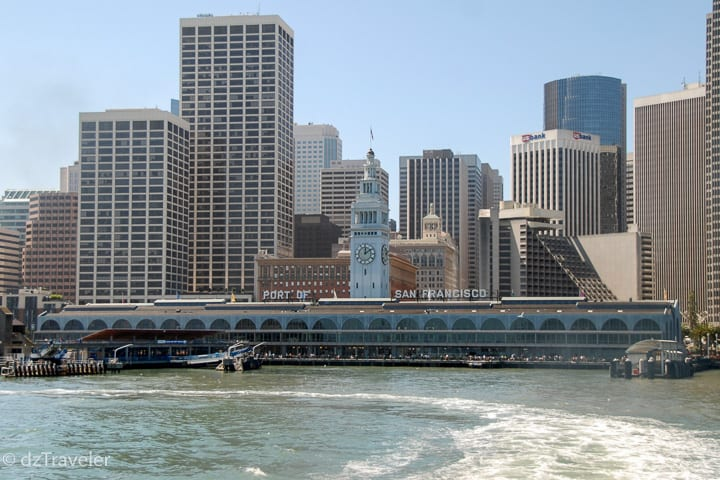 Port of San Francisco, view from the Sausalito Ferry