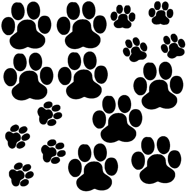 Stickervel Hondenpootjes  EA Design