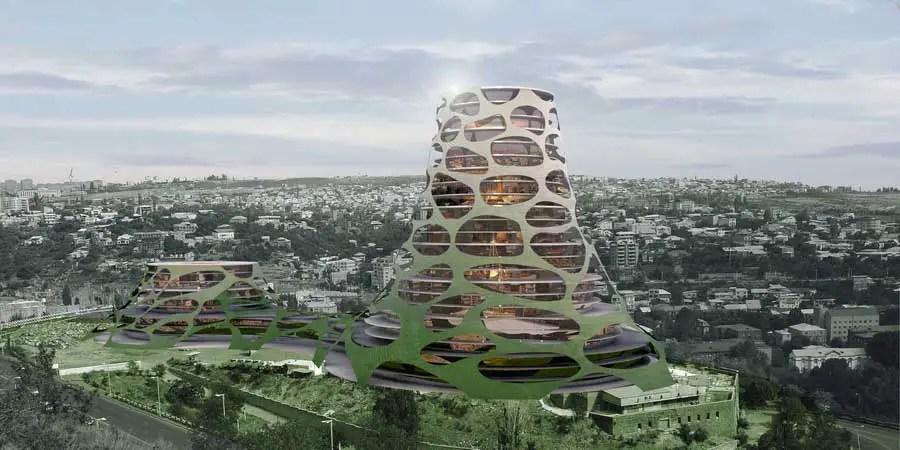 Mercedes Benz Tower  Yerevan Development Armenia Building  earchitect
