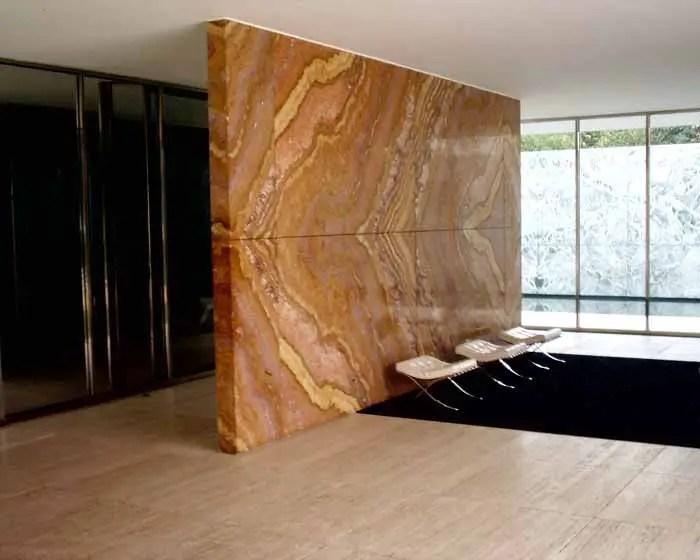 Barcelona Pavilion Mies van der Rohe Building  earchitect