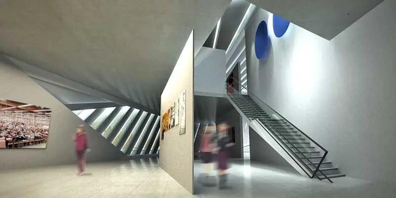 Eli and Edythe Broad Art Museum Zaha Hadid Building  e