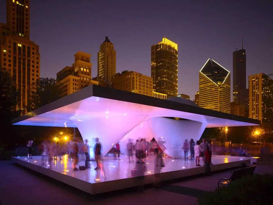 Millennium Park Pavilions Burnham Pavilion Chicago  e