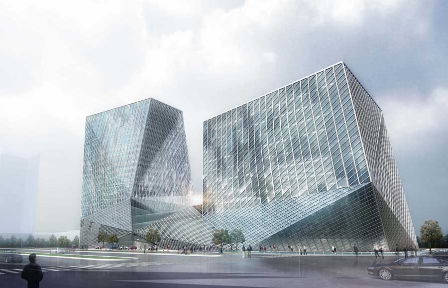Datong Twin Towers Building Competition China  earchitect