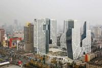 Sliced Porosity Block: Chengdu Towers - e-architect