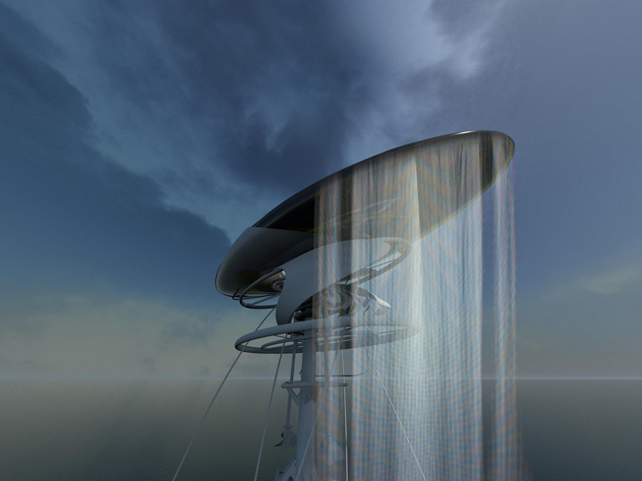 Hydroelectric Waterfall Prison Ocean Concept  earchitect
