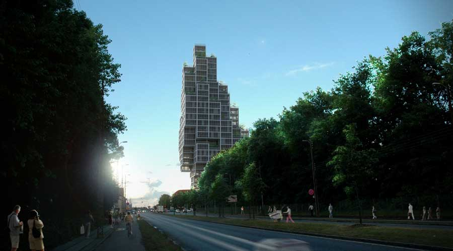 Rdovre Skyscraper Copenhagen by MVRDV  earchitect