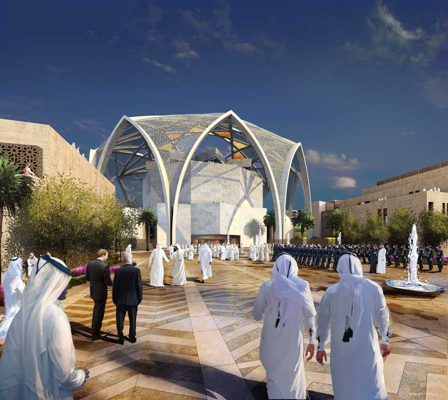 FNC New Parliament Building Abu Dhabi  earchitect