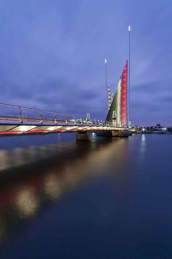 Twin Sails Bridge Poole Harbour Design Twin Sails Bridge