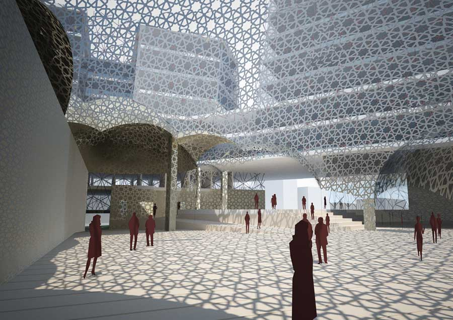 Haj House Complex Lucknow Building India  earchitect