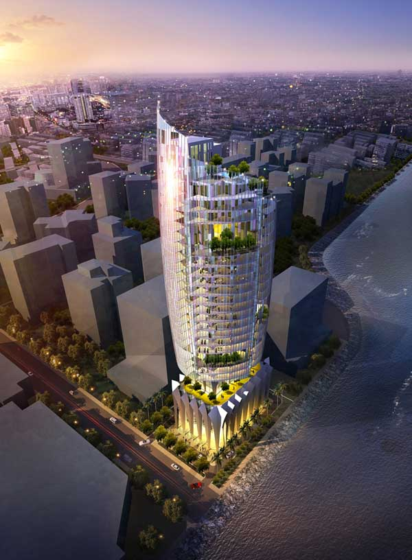 Nariman Point Mumbai Building Chapman Taylor India  earchitect