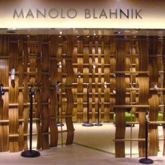 Bamboo Chairs Oversized Chair Cushions Manolo Blahnik Store, Jakarta - Harvey Nichols Indonesia Shop E-architect