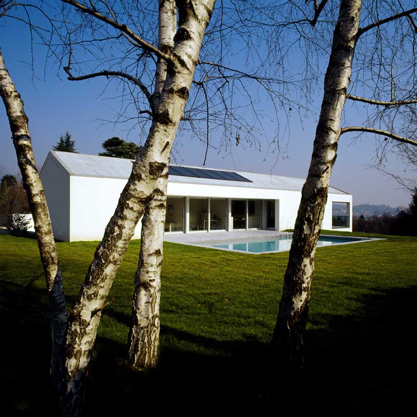 Villa con piscina Como house Italy Como home  earchitect