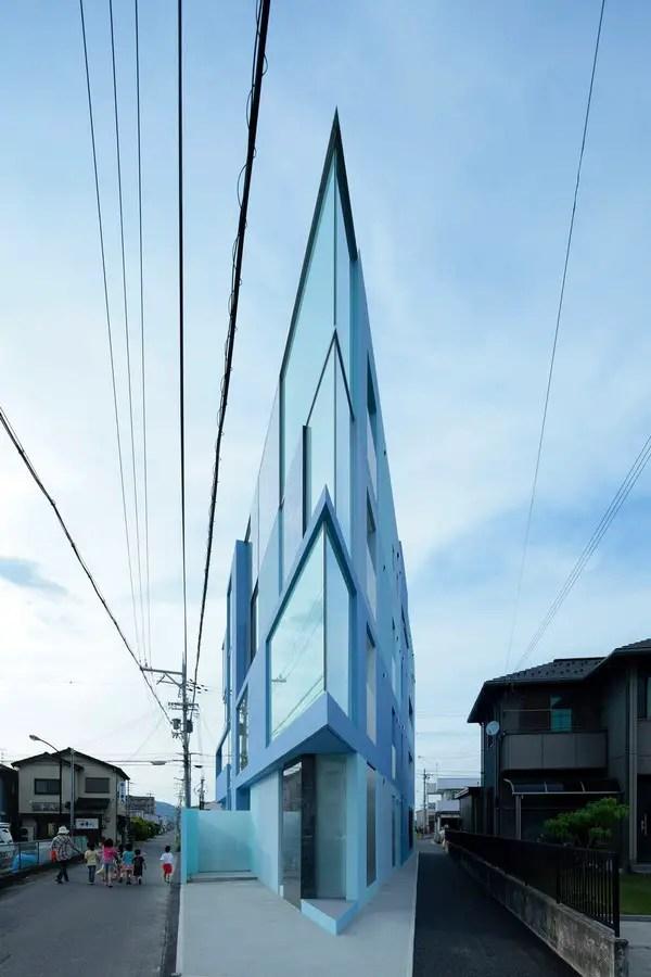 On the corner Youkaichi City Shiga Building  earchitect