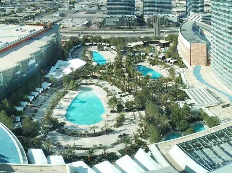 Aria Pool Deck Las Vegas Nevada Building  earchitect