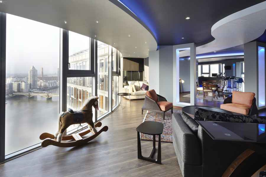 Falcon Wharf River Thames Penthouse Property  earchitect