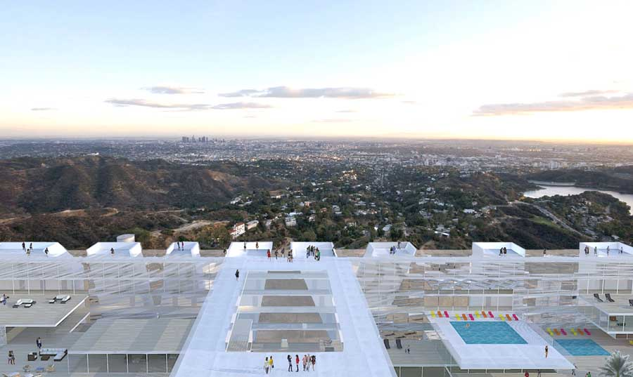 Hollywood Sign Hotel Los Angeles Building  earchitect