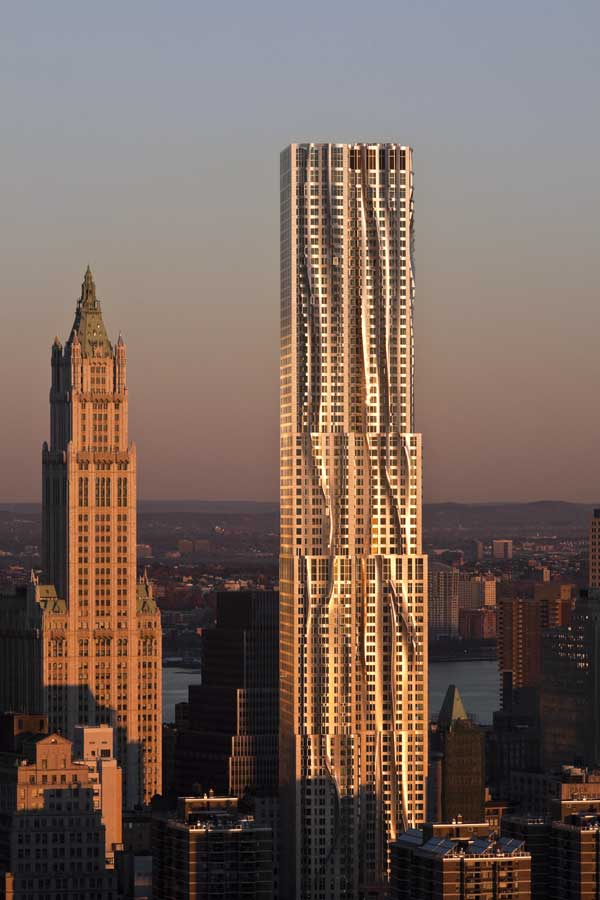 New York by Gehry 8 Spruce Street Rippling Building  earchitect