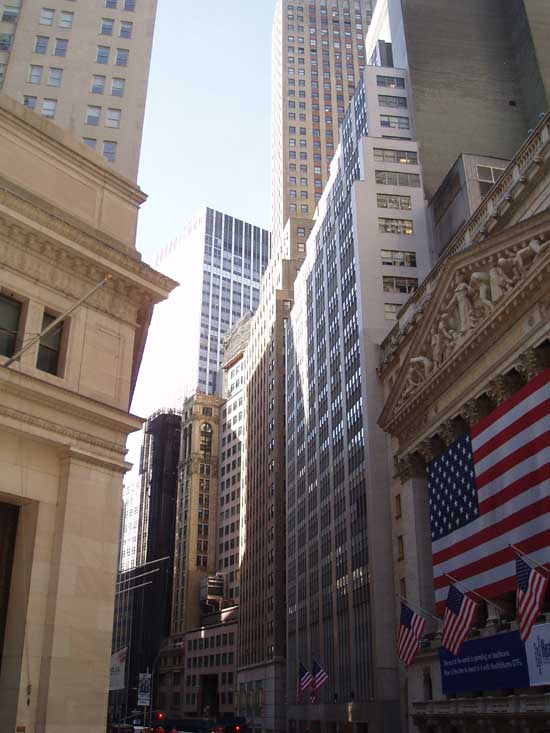 Wall Street Buildings New York  NY Stock Exchange  earchitect