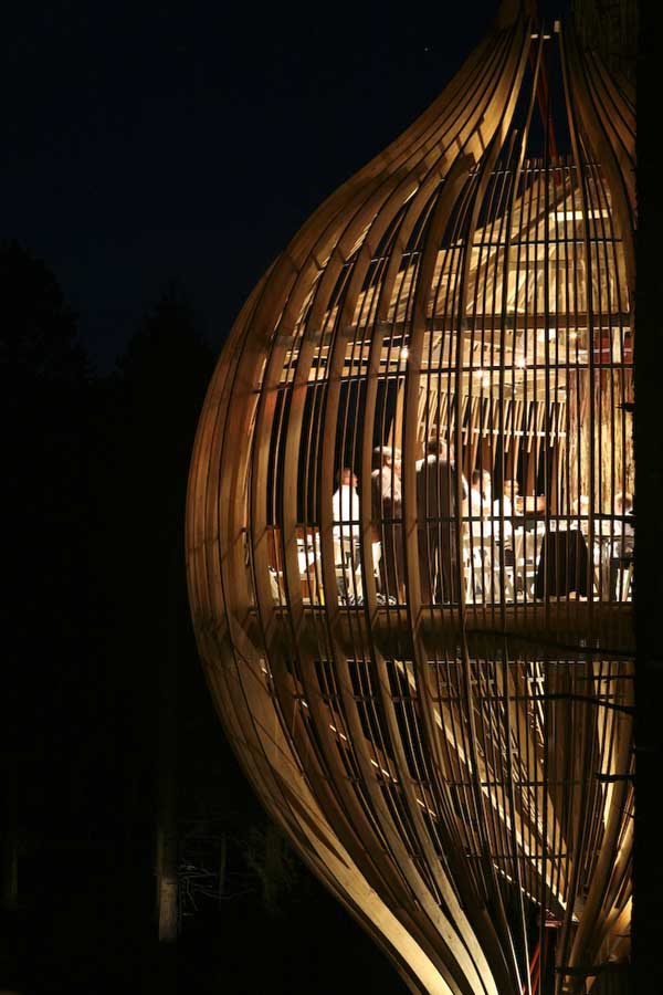 Yellow Treehouse Restaurant New Zealand  earchitect