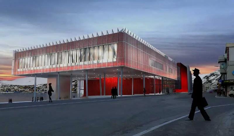 Arctic Culture Centre Hammerfest Building Norway  e