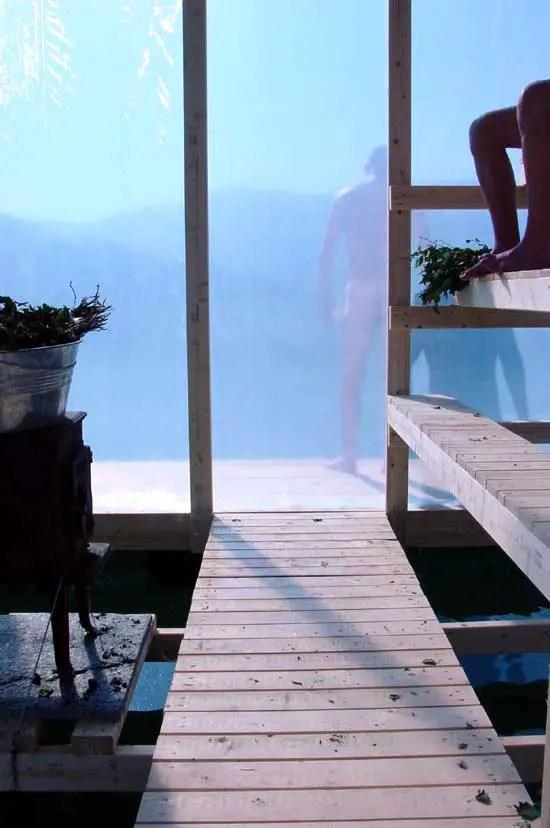 Floating Sauna Norway  Hardangerfjord Building  earchitect