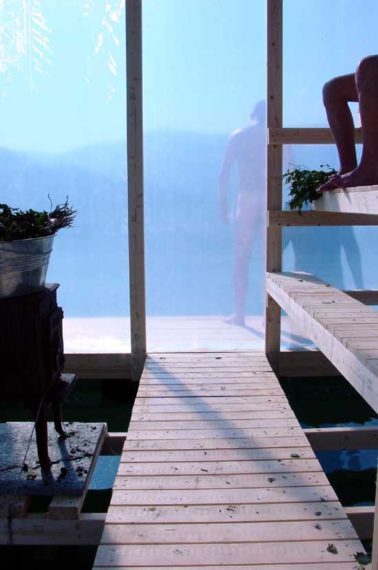 Floating Sauna Norway Hardangerfjord Building E Architect