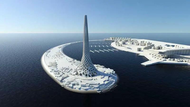 Breakwater Beacon: KAUST Thuwal Point. Saudi Arabia - e-architect