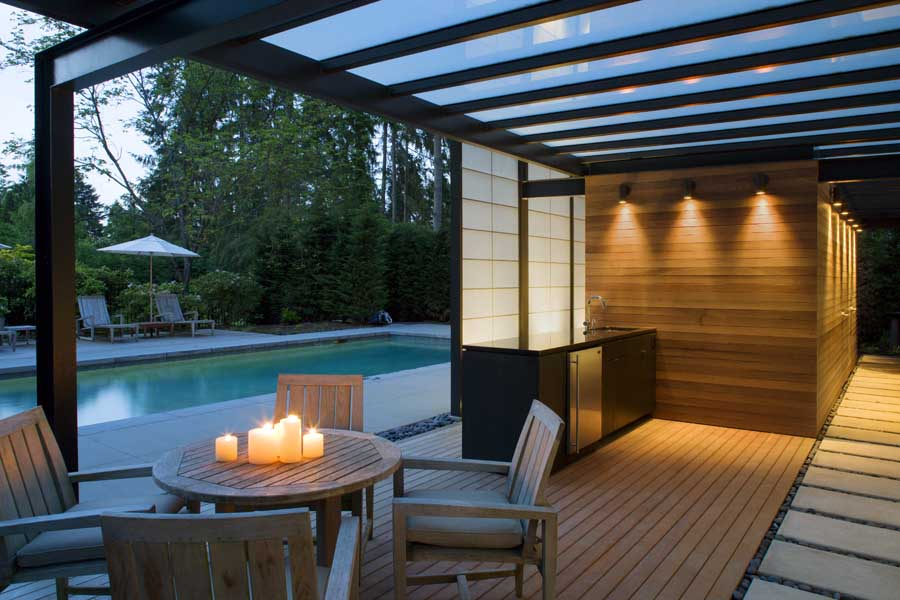 Medina Pool House Pavilion Washington Real Estate  earchitect
