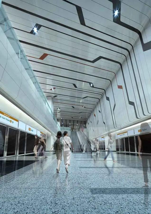Rochor MRT Station Singapore Mass Rapid Transit E Architect
