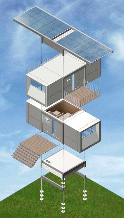 Prefabricated House  Prefab Home Design  earchitect
