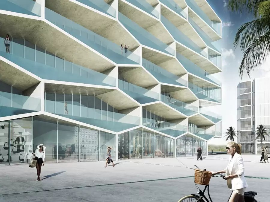 Honeycomb Building Bahamas  Albany Resort  earchitect