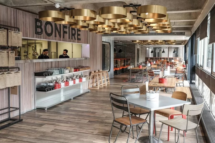 Bonfire Restaurant in the Barbican  earchitect