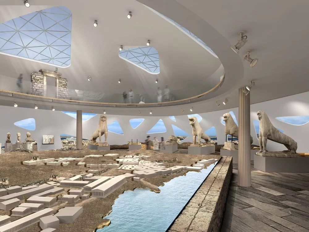 Delos Museum in Greece  earchitect