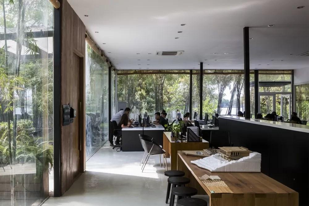 Mia design studio vietnam their ethereal food pavilion for Office design vietnam