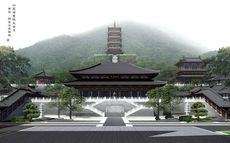 Haifeng Daan Temple Guangzhou China  earchitect