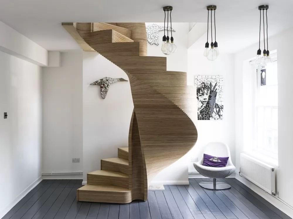 Nautilus Spiral Staircase Wood Interior London E Architect