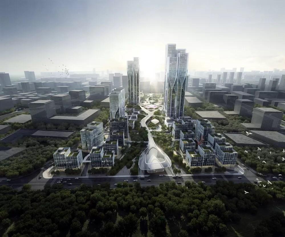 Vanke Tianfu Cloud City in Chengdu  earchitect
