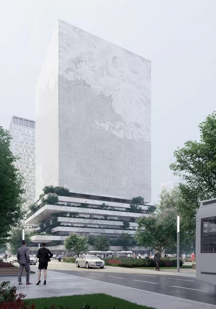 Qianhai Data Centre in Shenzhen. Building Facade - e-architect
