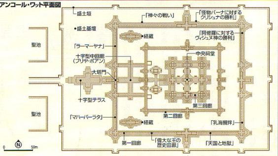 アンコールワットの平面図